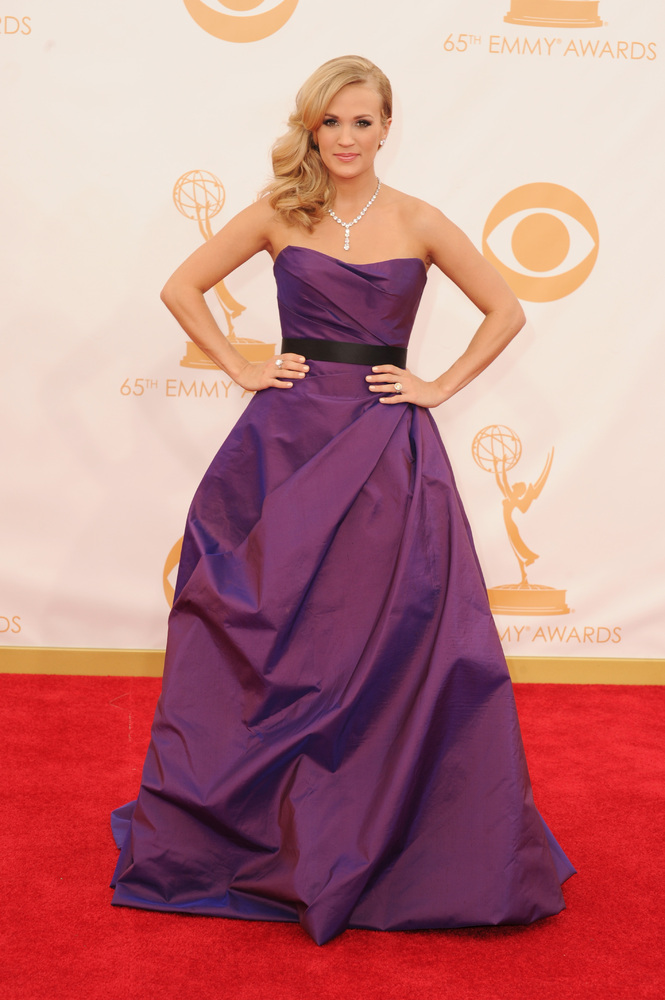 Carrie Underwood in Romona Keveza (Photo: Getty Images and Huff Post Style)