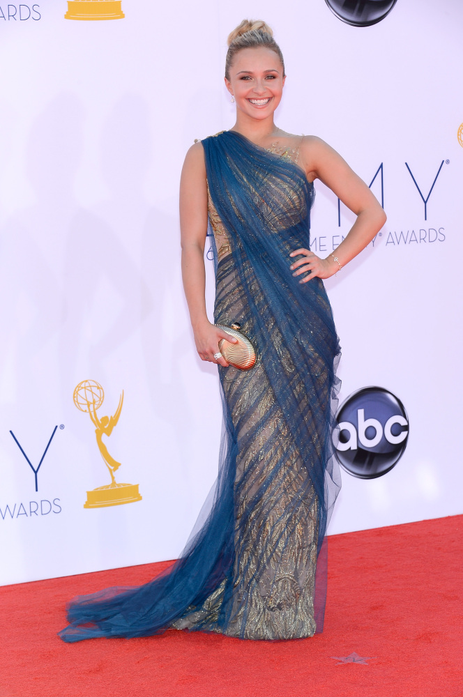 Hayden Panettiere in Marchesa (Photo: Getty Images and Huff Post Style)