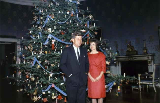 Red Wool Suit, Christmas at the White House
