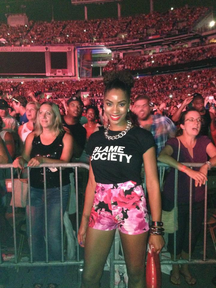 me at concert