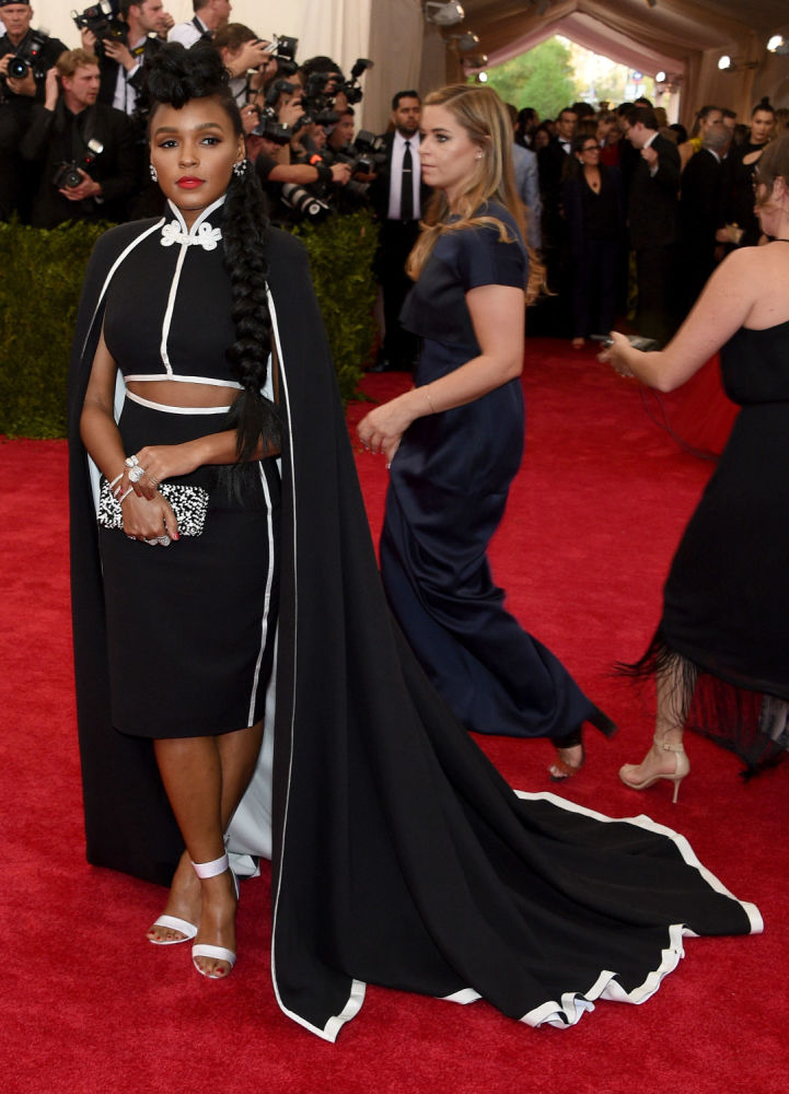 Janelle Monae in H&M at the Met Gala 2015. Photo: /Getty Images