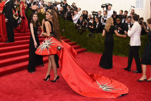 Zendaya Coleman in Fausto Puglisi at the Met Gala 2015. Photo: Getty
