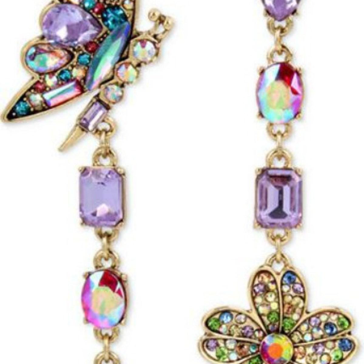 Betsey Johnson Butterfly Mismatch Earrings