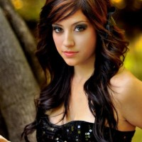 Hair Color for 2014 Dark Waves with Copper Highlights