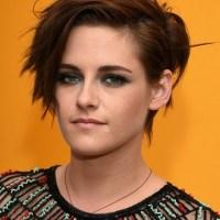 2015 Kristen Stewart Short Haircut: Messy Short Hairstyles with Side Bangs