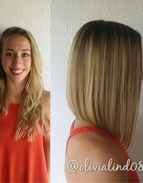 straight long a-line bob hairstyle for shoulder length hair