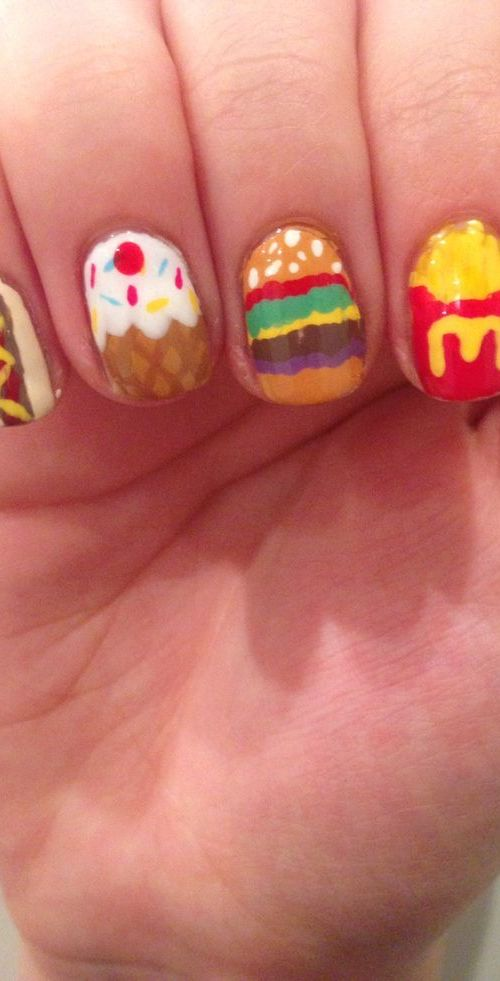 Delicious Food Nails