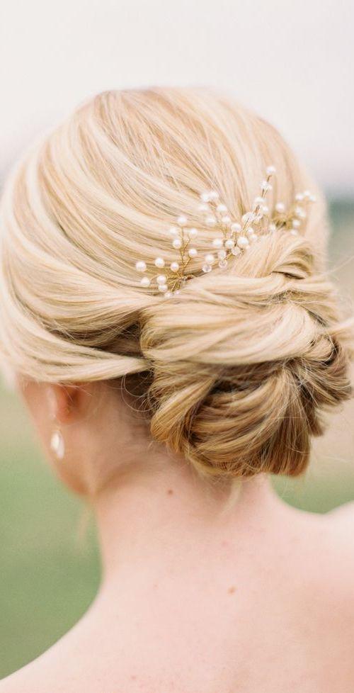 Elegant Lower Updo for Wedding
