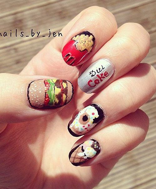Yummy Food Nail Designs