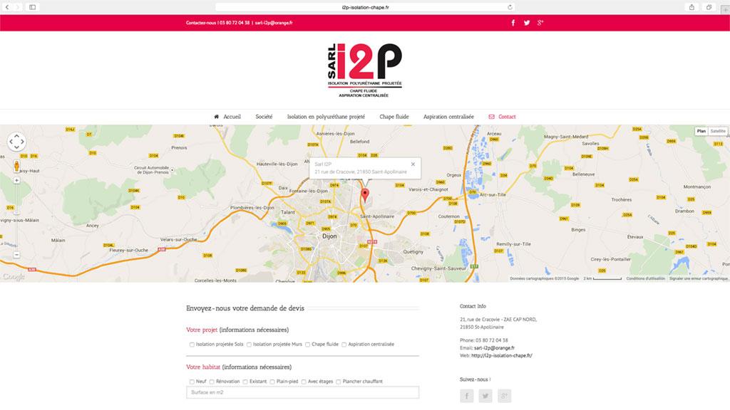Formulaire de contact Site i2p