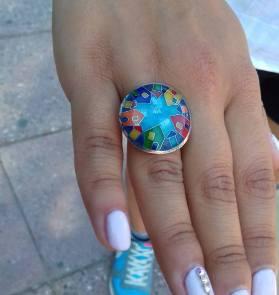 Styu, styu.kz, горячая эмаль, enameling, купить кольцо в алматы, купить кольцо в астане, ювелир алматы, эмаль на серебре, сделано в казахстане, кольцо с домиками, цветные домики