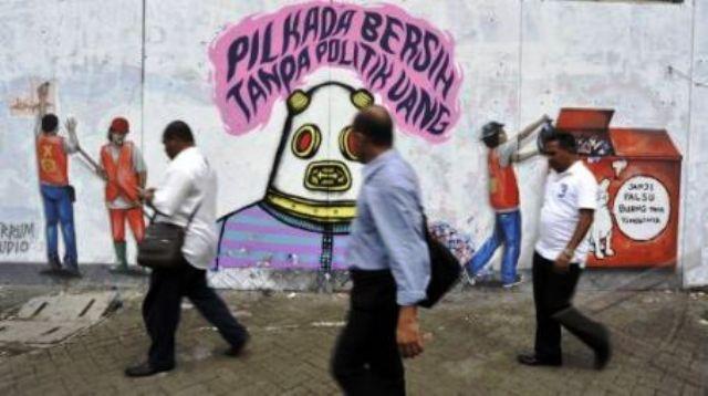 Politik Uang Pilkada DKI Jakarta (foto : antara)