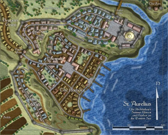 Profantasy fantasy city tiles for Campaign Cartographer