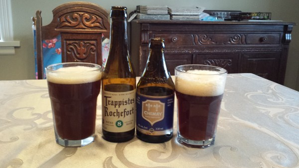 Trappist Ale: Trappistes Rochefort 8 and Chimay Bleue