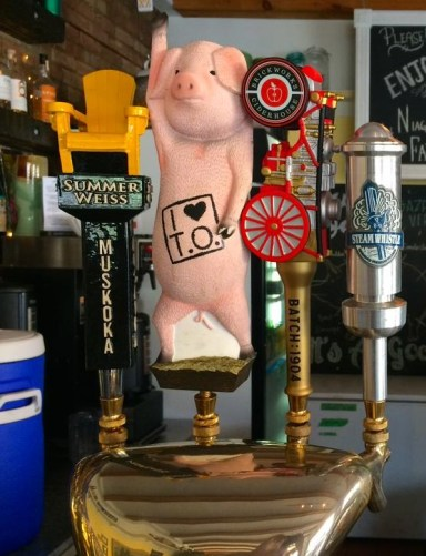 "This little piggy said ""pour me a pint."" Photo courtesy of Hogtown Brewers."