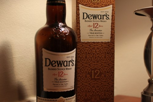 Dewar's 12 close up.