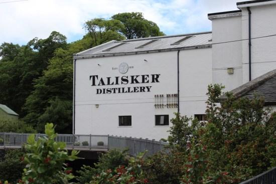 Touring Talisker Distillery.