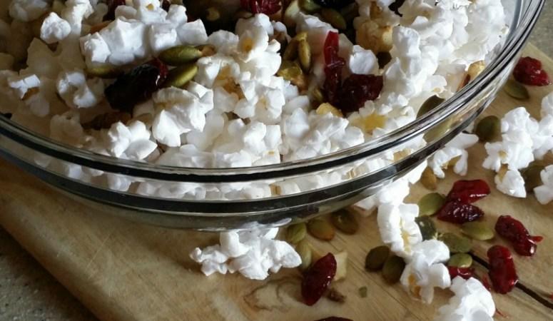 Sweet & Savory Popcorn Trail Mix
