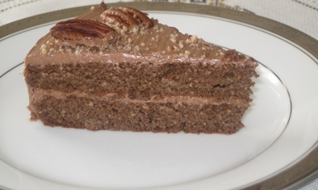 Atkins Diet - slice of Pecan Chocolate cake