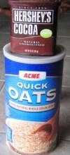 No  bake chocolate oatmeal  cookies - Oatmeal and Cocoa Poweder