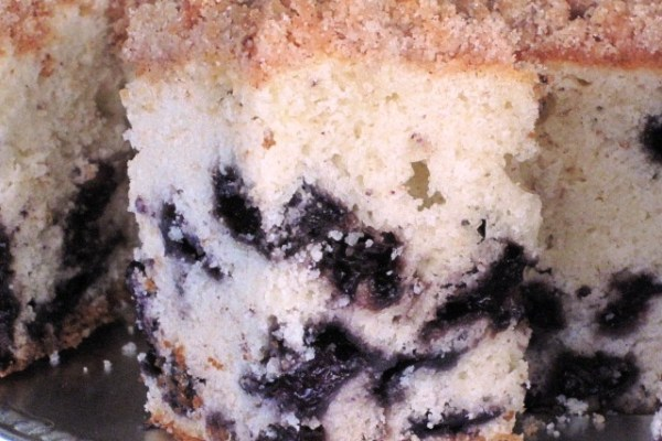 Blueberry Coffee Cake - serving