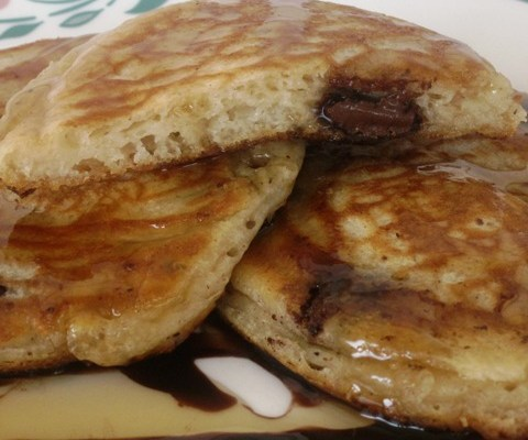 Buttermilk Chocolate Chip Pan Fritters  (pancakes)