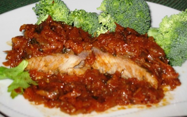 Mahi Mahi in veggies -  serving size