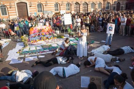 Ecos de Ayotzinapa en Toulouse, Francia