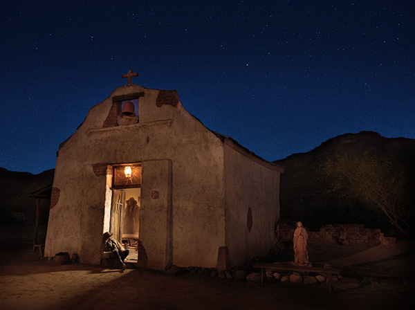haunted old west chuch image