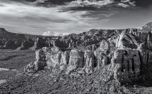 cathedral rock sedona arizona aerial photo