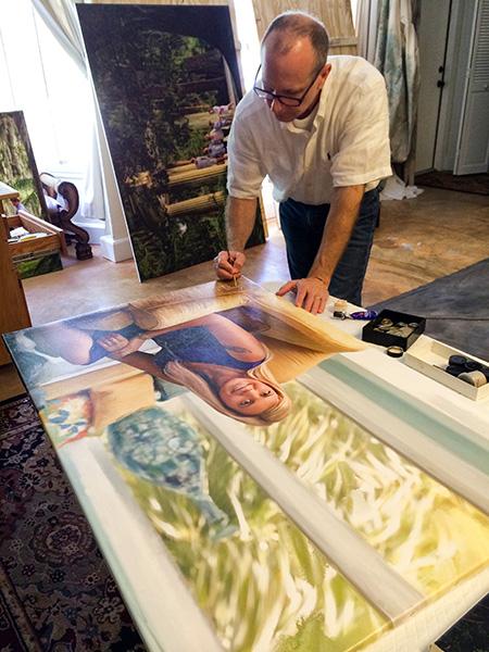 gregory daniel signing photographic artwork