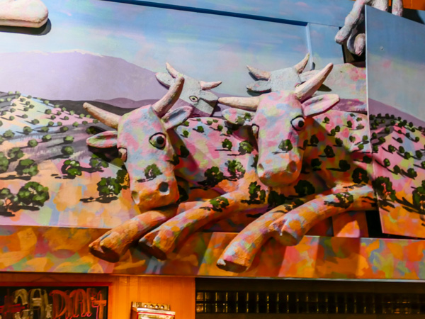 cows from mural at range cafe