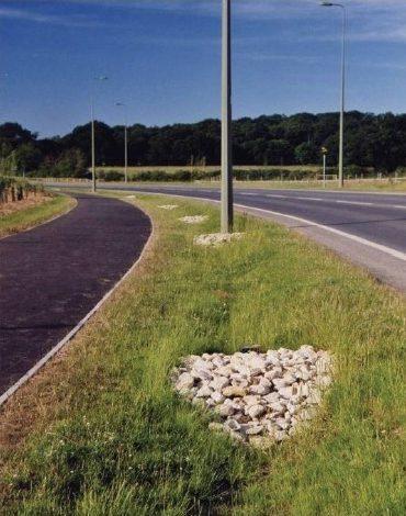 cuneta verde carretera