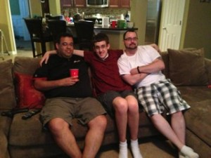 Gerard, Gerardie, Jason on couch 2013_About Race