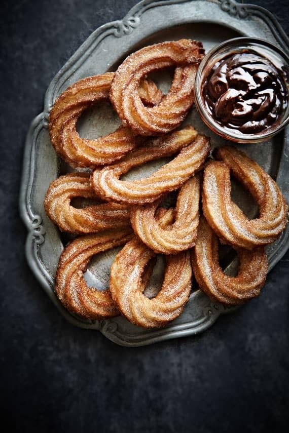 food photography & chocolate churros