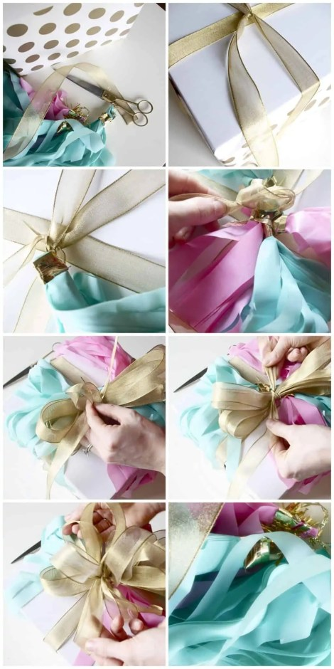 how to make a layered bow for a gift wrap