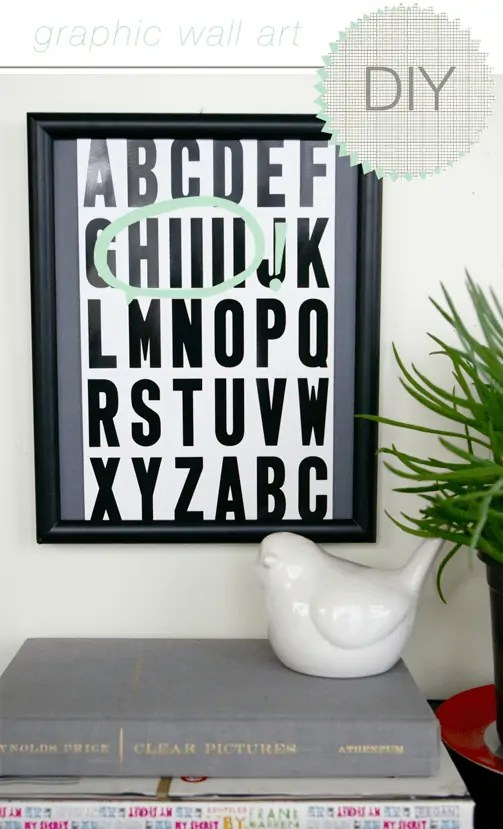 DIY graphic wall art