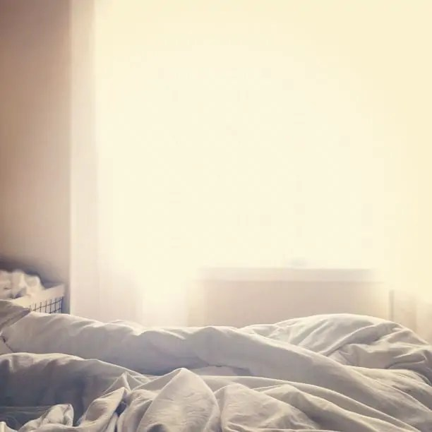 bright morning bed