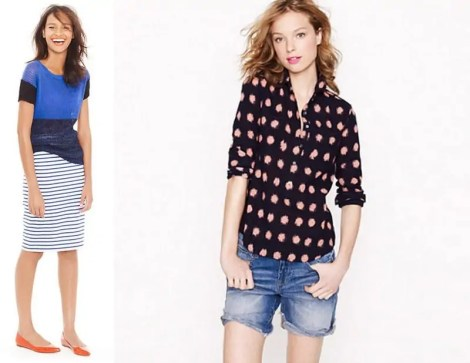 jcrew looks we love polka dots and stripes