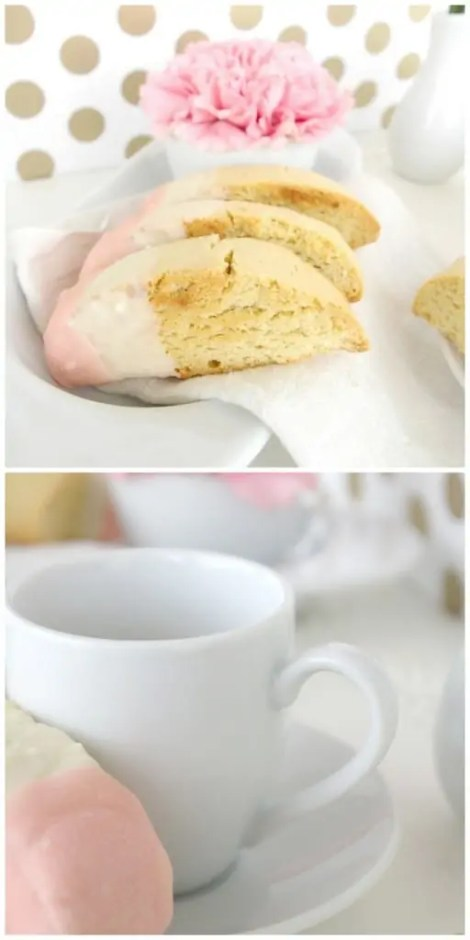biscotti white chocolate dipped recipe