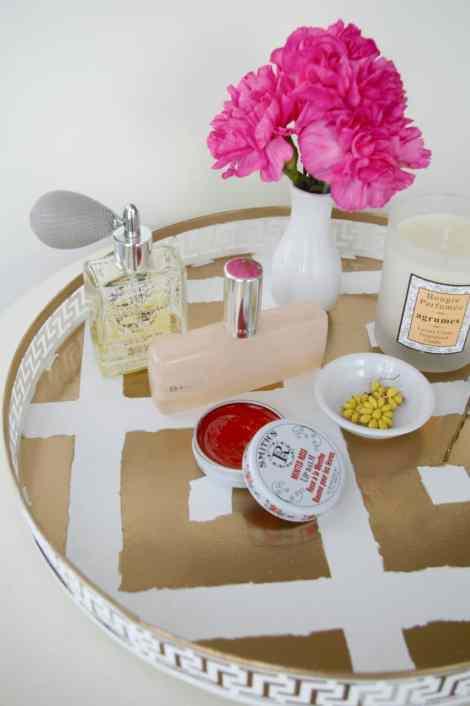 DIY ikat vanity tray