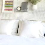 DIY // Pegboard Headboard