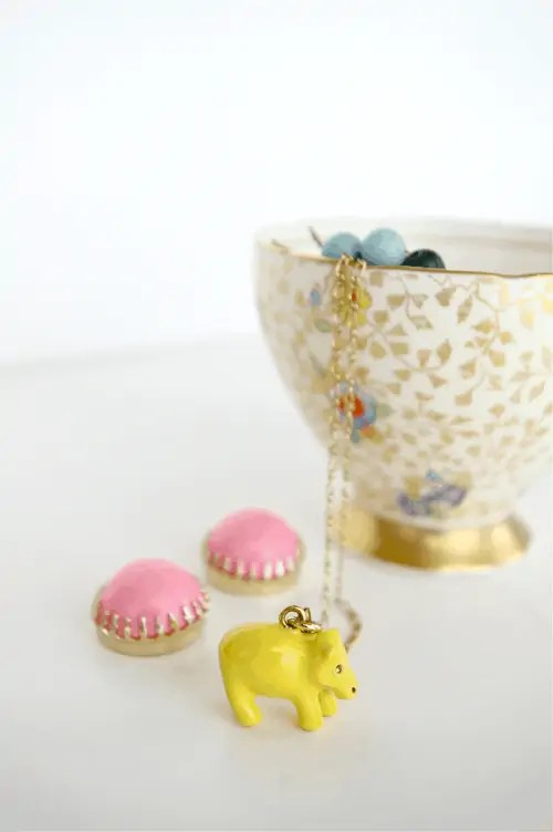 pretty little teacup as a jewelry holder