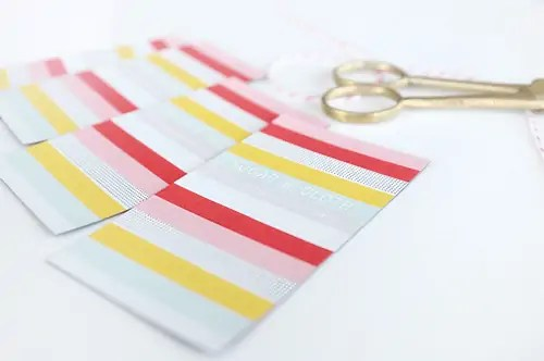 magnetic business cards sugar and cloth