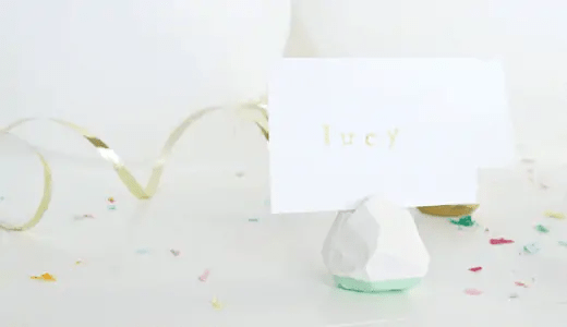 DIY geometric place card holders