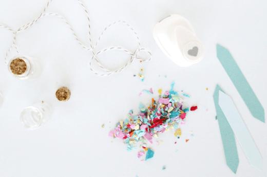 DIY mini confetti jars by sugar and cloth