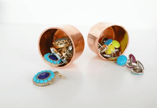DIY mini copper accessory & desk organizers