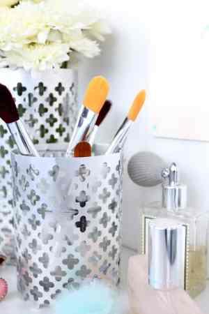 DIY aluminum vase and utensil holder