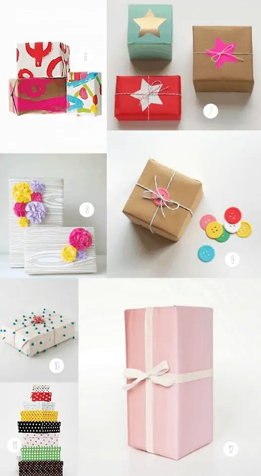 over 15 different gift wrap DIY's, products, and inspirations!