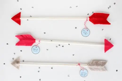 DIY date night valentine arrows